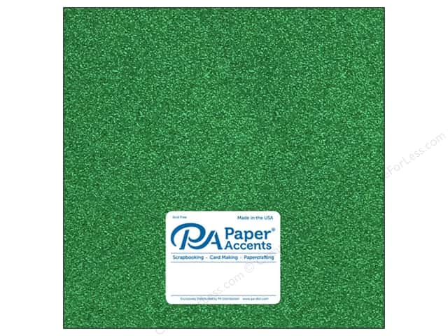 Paper Accents Glitter Cardstock 12 x 12 in. #G06 Green (15 pieces)