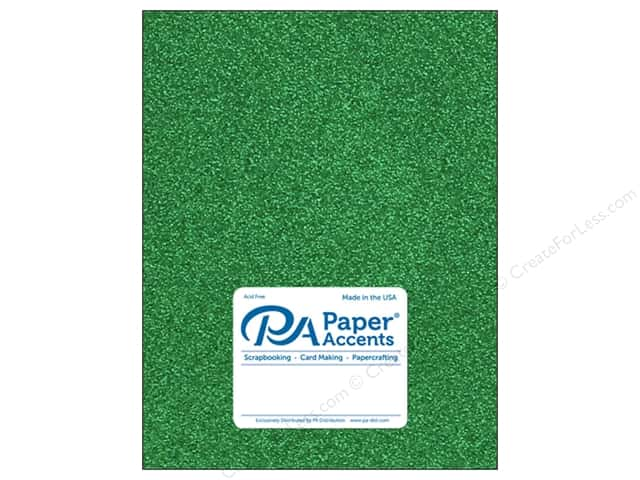 Paper Accents Glitter Cardstock 8 1/2 x 11 in. #G06 Green (15 pieces)