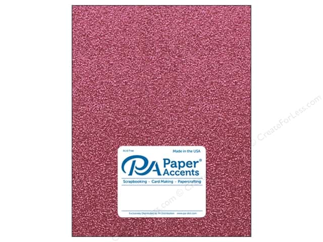 Paper Accents Glitter Cardstock 8 1/2 x 11 in. #G01 Pink (15 pieces)