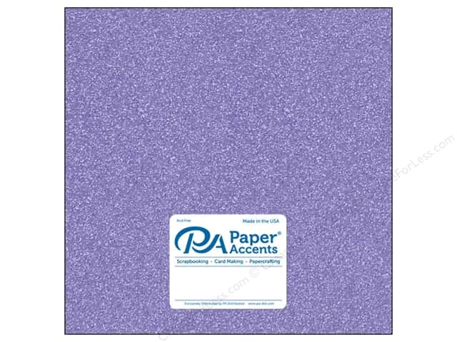 Paper Accents Glitter Cardstock 12 x 12 in. #G29 Lavender (15 pieces)
