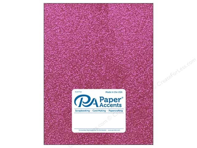Paper Accents Glitter Cardstock 8 1/2 x 11 in. #G03 Rose (15 pieces)