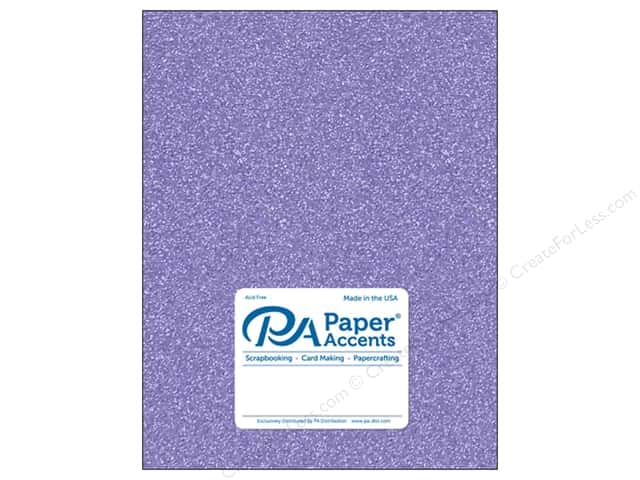 Paper Accents Glitter Cardstock 8 1/2 x 11 in. #G29 Lavender (15 pieces)