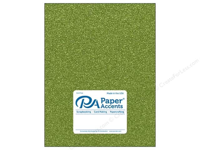 Paper Accents Glitter Cardstock 8 1/2 x 11 in. #G25 Olive Green (15 pieces)
