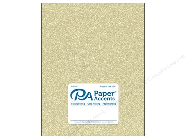 Paper Accents Glitter Cardstock 8 1/2 in. x 11 in. #G16 Light Gold (15 pieces)