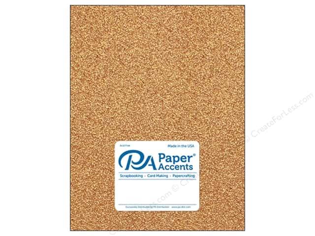 Paper Accents Glitter Cardstock 8 1/2 x 11 in. #G33 Champagne (15 pieces)