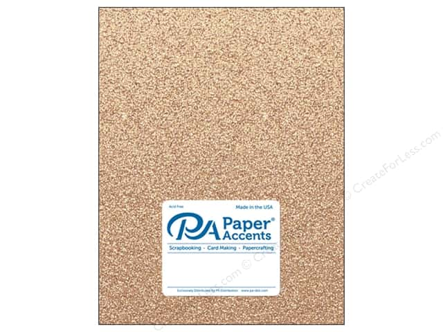 Paper Accents Glitter Cardstock 8 1/2 x 11 in. #G34 Sand (15 pieces)