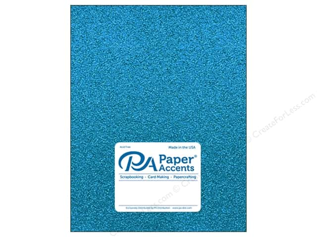Paper Accents Glitter Cardstock 8 1/2 x 11 in. #G08 Ocean Blue (15 pieces)