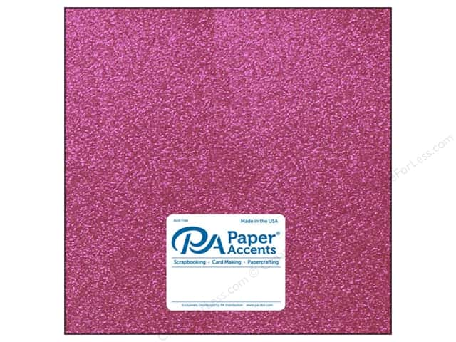 Paper Accents Glitter Cardstock 12 x 12 in. #G03 Rose (15 pieces)