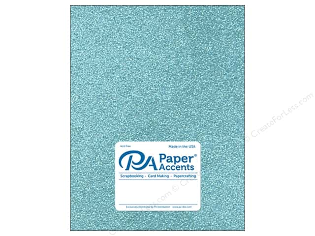 Paper Accents Glitter Cardstock 8 1/2 x 11 in. #G09 Sky Blue (15 pieces)