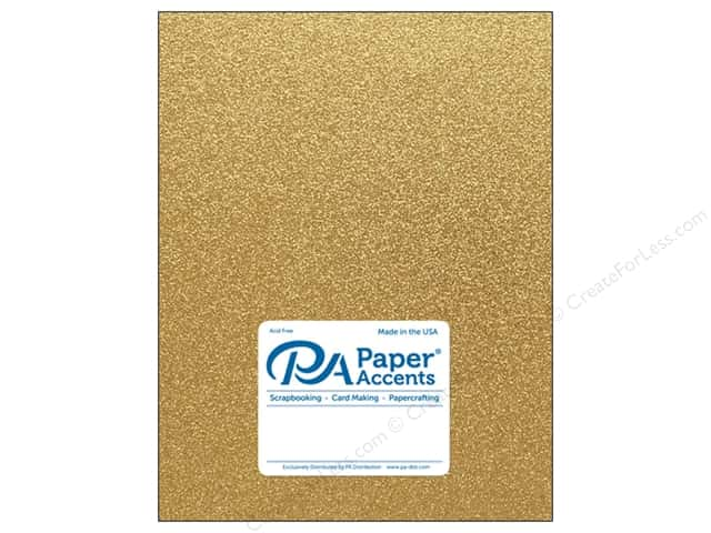 Paper Accents Glitter Cardstock 8 1/2 in. x 11 in. #G10 Gold (15 pieces)