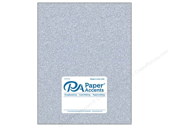 Paper Accents Glitter Cardstock 8 1/2 x 11 in. #G12 Silver (15 pieces)