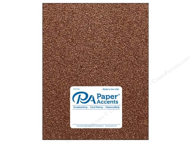 Paper Accents Glitter Cardstock 8 1/2 x 11 in. #G60 Bronze Copper (15 pieces)