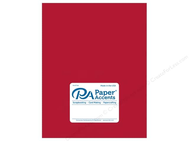 Paper Accents Pearlized Paper 8 1/2 x 11 in. #882 Dark Red 5 pc.