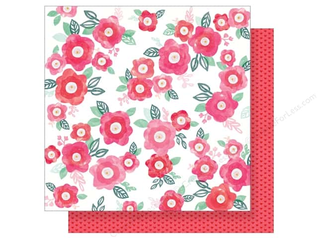 """Crate Paper Collection Heart Day Paper 12""""x 12"""" Adore You (25 pieces)"""