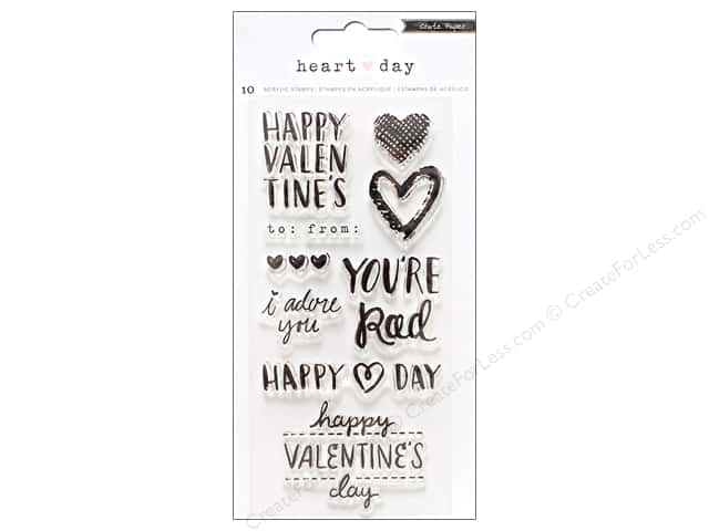 Crate Paper Collection Heart Day Stamp Set Clear