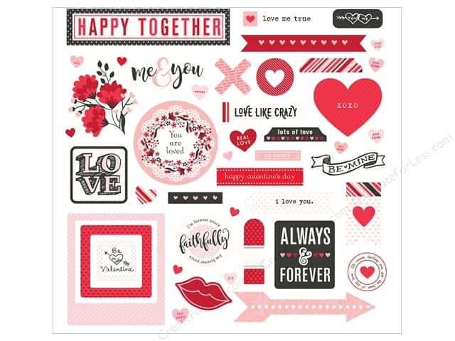 "Photo Play Collection So Loved Sticker Element 12""x 12"" (12 pieces)"