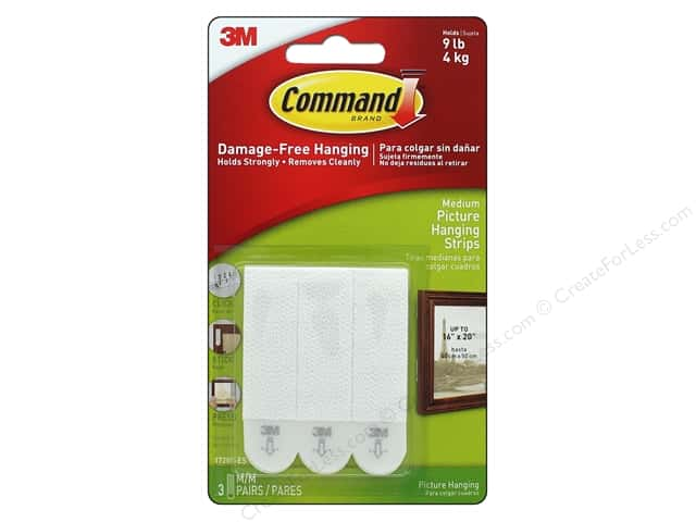 Command Adhesive Replacement Strips Picture Hanging Medium