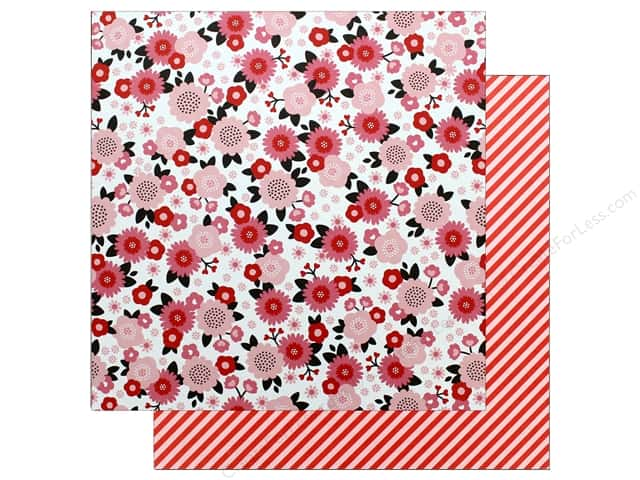 "Pebbles Collection My Funny Valentine Paper 12""x 12"" Pretty In Pink (25 pieces)"