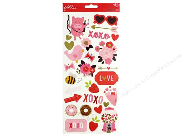 Pebbles Collection My Funny Valentine Sticker