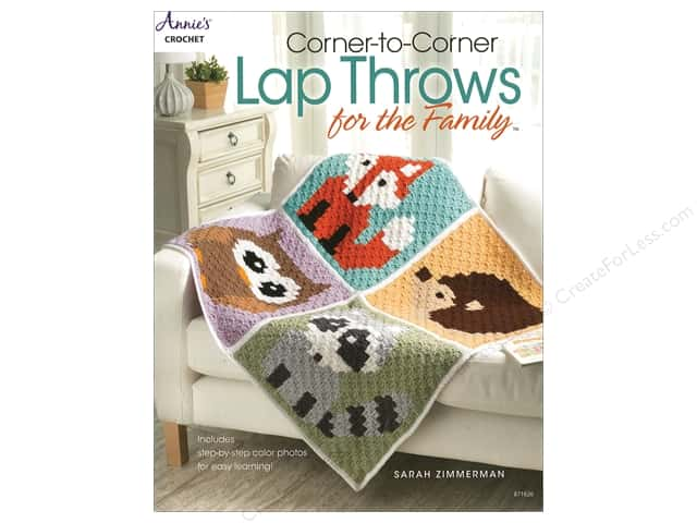 Annie's Crochet Corner To Corner Lap Throws For Family Book by Sarah Zimmerman