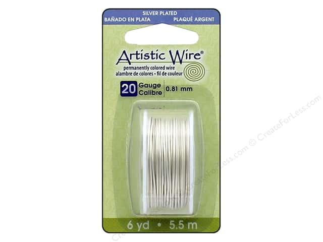 Artistic Wire 20Ga 6yd Silver Plated Pearl Silver
