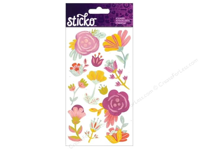 EK Sticko Stickers Sweet Flowers