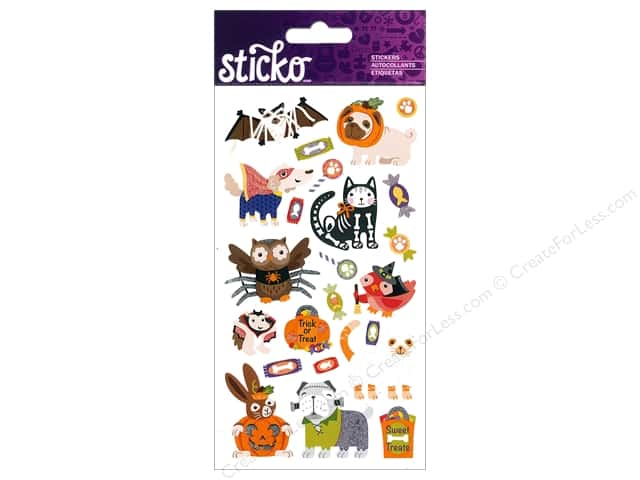 EK Sticko Stickers Halloween Animal Characters