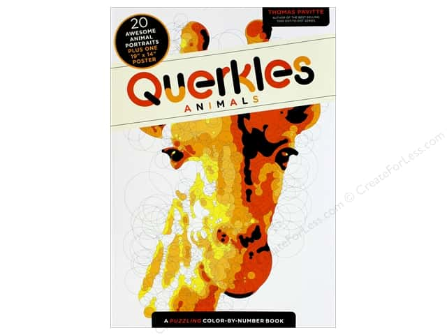 Querkles Animals Color By Number Book by Thomas Pavitte