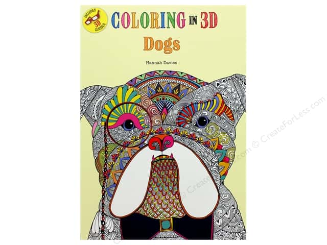 Thunder Bay Press Coloring In 3D Dogs Book