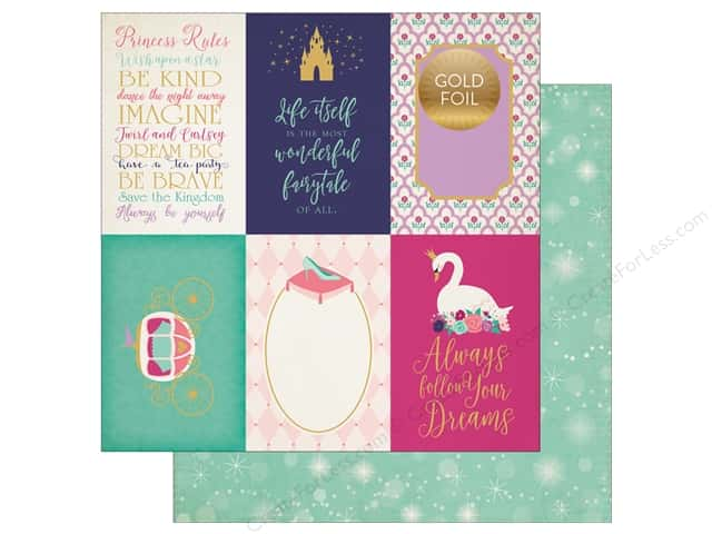 "Echo Park Collection Once Upon A Time Paper 12""x 12"" Journaling Cards 4""x 6"" (25 pieces)"