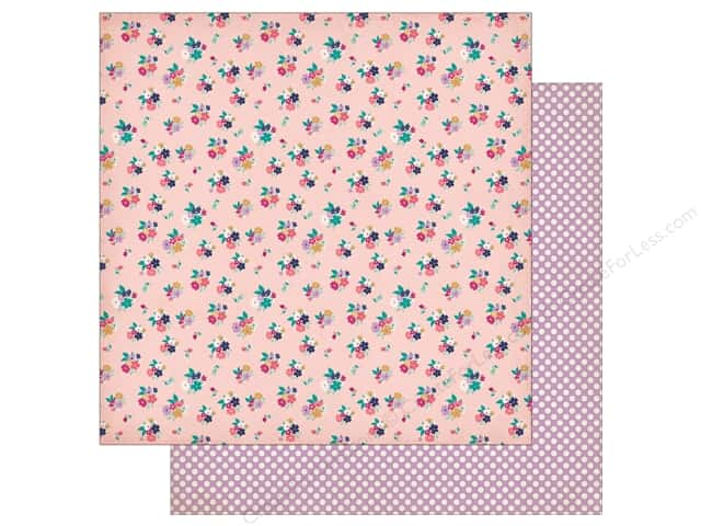 "Echo Park Collection Once Upon A Time Paper 12""x 12"" Kingdom Posies (25 pieces)"