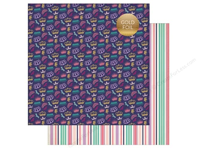 "Echo Park Collection Once Upon A Time Paper 12""x 12"" Courtly Crowns (25 pieces)"