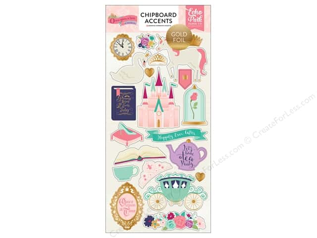 "Echo Park Collection Once Upon A Time Chipboard 6""x 13"" Princess"