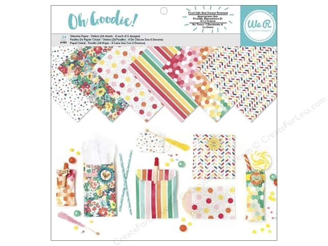 """We R Memory Collection Oh Goodie Glassine 12""""x 12"""" Pattern 24pc"""