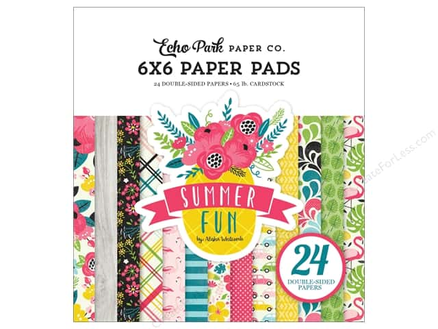 """Echo Park Collection Summer Fun Paper Pad 6""""x 6"""""""