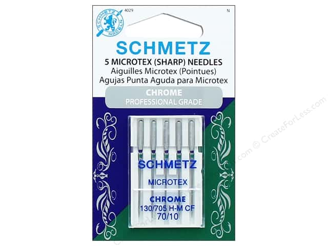 Schmetz Machine Microtex/Sharps Needle Chrome Size 70/10 5pc