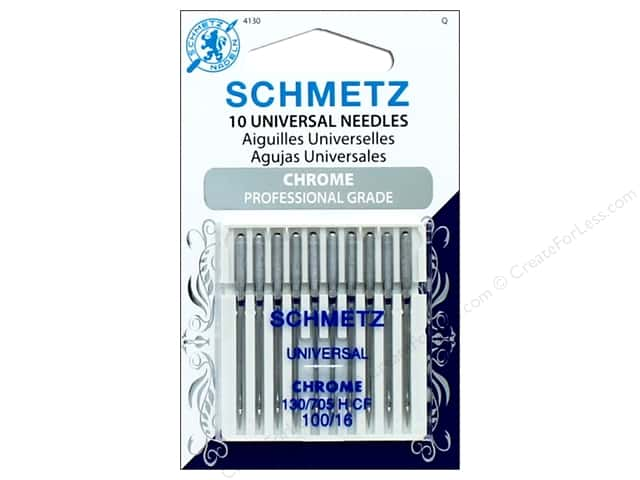 Schmetz Universal Needle Chrome Size 100/16 10pc
