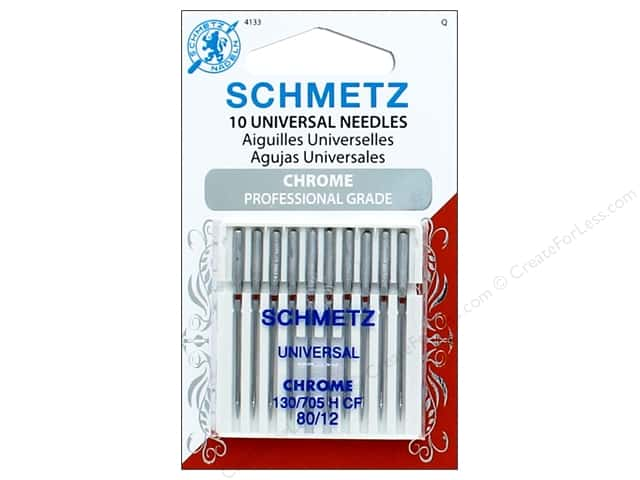 Schmetz Universal Needle Chrome Size 80/12 10pc