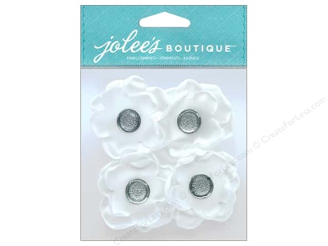 EK Jolee's Boutique Gem Florals White