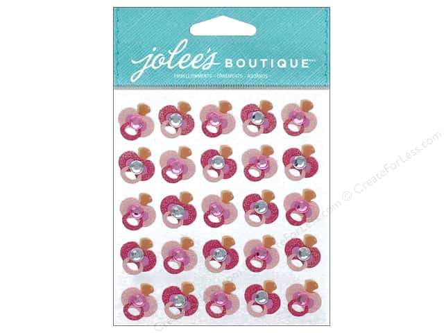 EK Jolee's Boutique Repeats Glitter Pacifier Pink