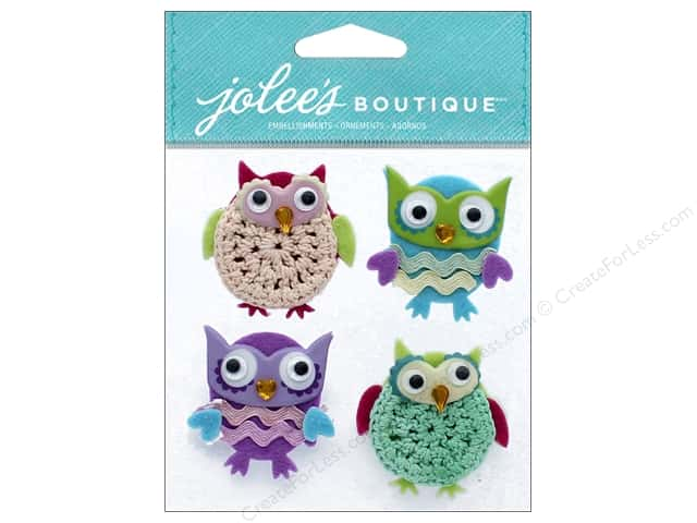 EK Jolee's Boutique Cutesy Owls