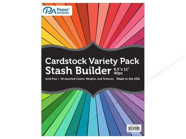 Paper Accents Cardstock Variety Pack 8 1/2 x 11 in. Assorted 40 pc.