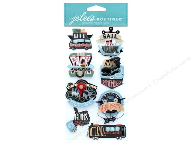 EK Jolee's Boutique Large Travel Words