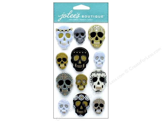 EK Jolee's Boutique Large Gilded Skulls