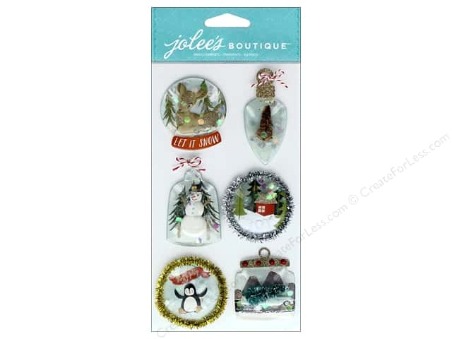EK Jolee's Boutique Large Ornament Snow Globes