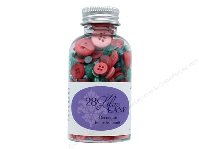 Buttons Galore 28 Lilac Lane Embellishment Bottle Coral Reef