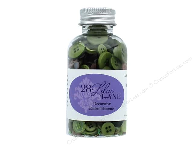 Buttons Galore 28 Lilac Lane Embellishment Bottle Through The Woods