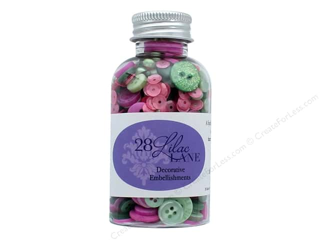 Buttons Galore 28 Lilac Lane Embellishment Bottle Savannah Stroll