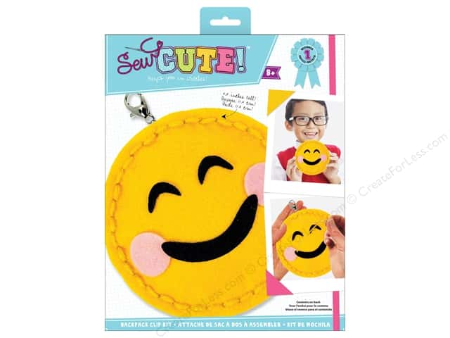 Colorbok Kit Sew Cute Backpack Clip Emoji Blush Smile
