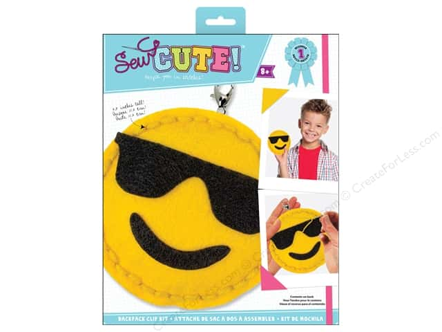 Colorbok Kit Sew Cute Backpack Clip Emoji Sunglasses